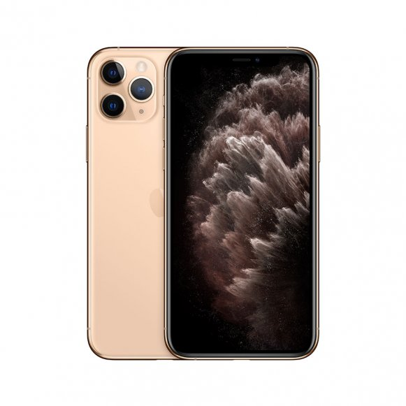 iPhone 11 Pro Max Or de face et de dos