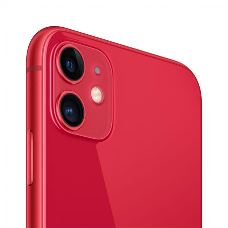 iPhone 11 rouge  de dos et de profil