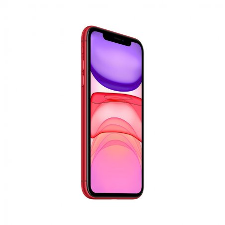 iPhone 11 rouge de profil