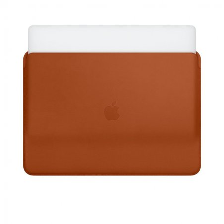 "Housse Apple en cuir marron fauve pour MacBook 16"" : doublure microfibre compatible MacBook 16 Thunderbolt 3"