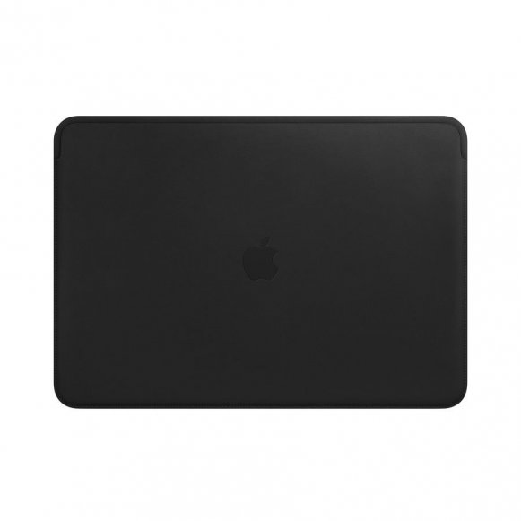 "Housse Apple en cuir noir pour MacBook 16"" : doublure microfibre compatible MacBook 16 Thunderbolt 3"
