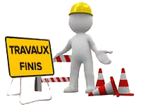 pictogramme - travaux finis