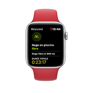 Apple Watch à la piscine - statistiques6