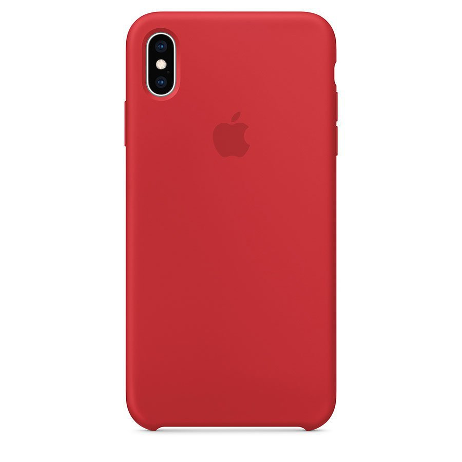 etui silicone rouge pour iPhone
