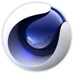 Logo Cinema 4D oeil camera violet
