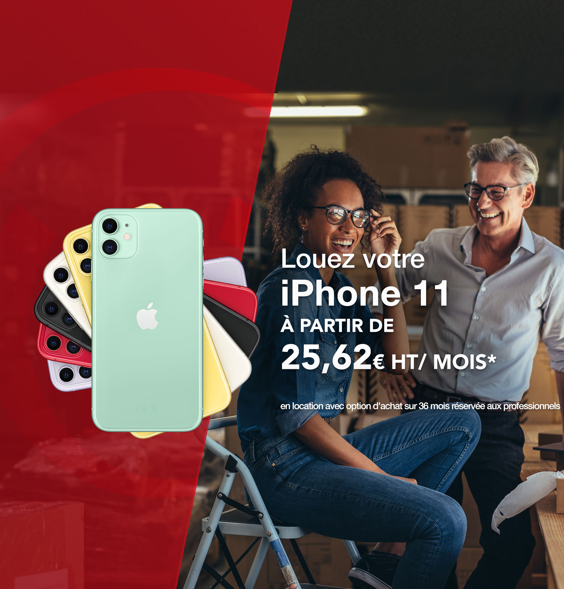 Offre Pack Business iPhone 11 à 24,35€/mois