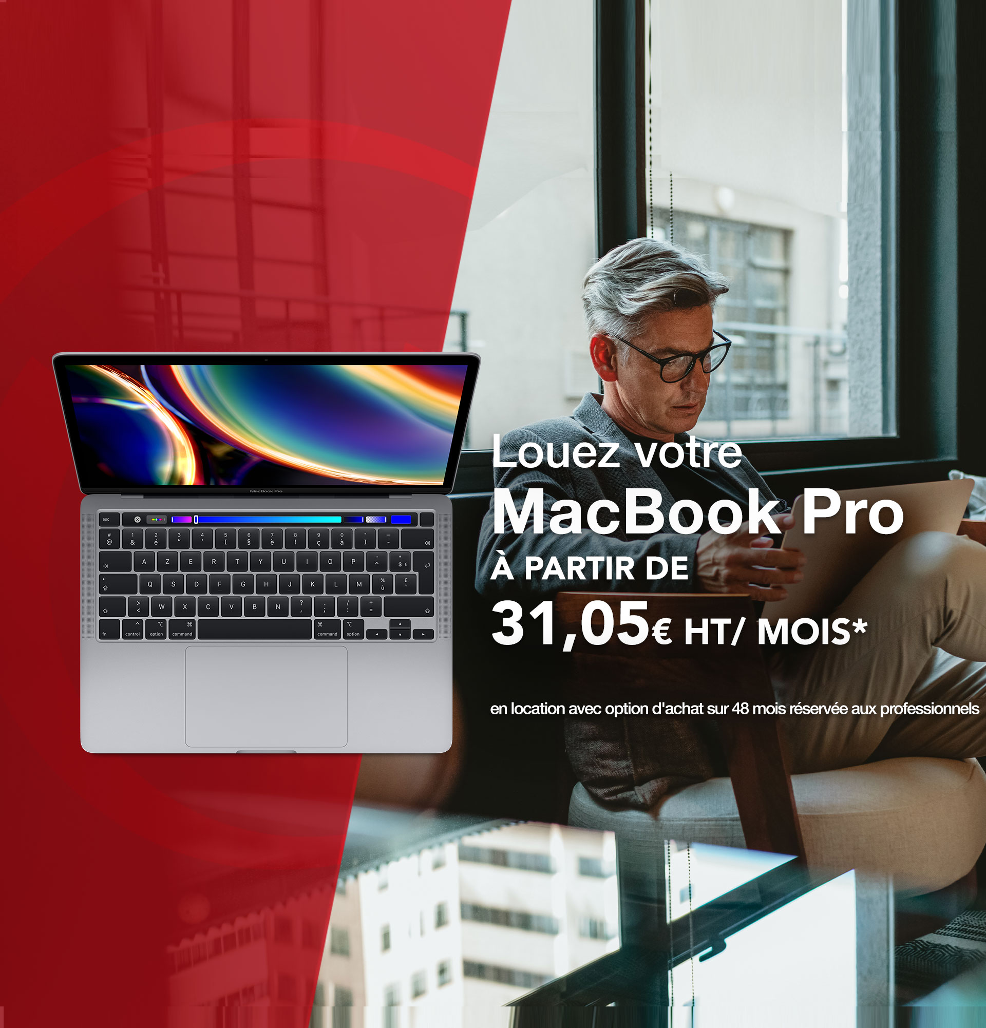 Offre Pack Business MacBook Pro à 31,05€/mois
