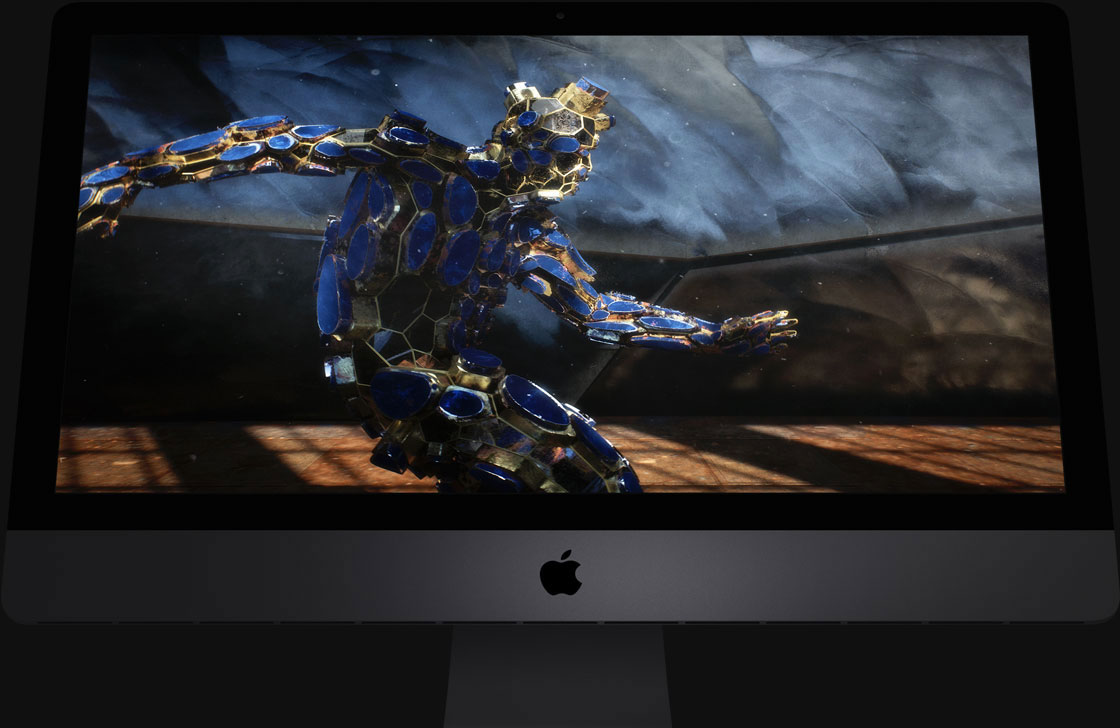 Illustration de l'iMac Pro