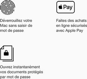 MacBook Air - caractéristiques Touch ID