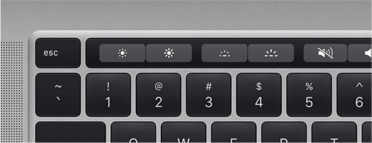 Visualisation de la touche Touch Bar