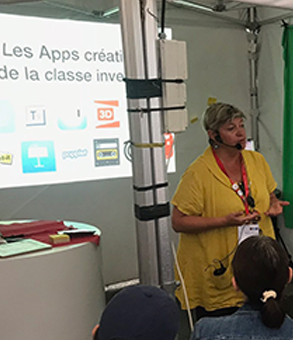 professeur matant en application sur iPad