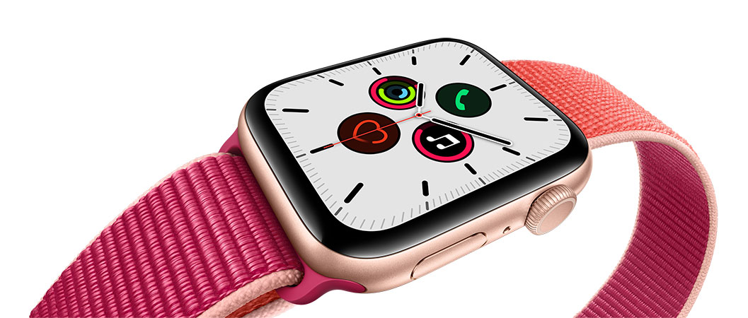 Apple Watch series 5 boitier aluminium or 44mm
