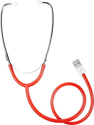 Stethoscope médical illustrant la nécessité de faire un diagnostic chez iConcept