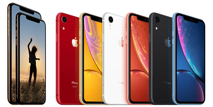 Gamme iPhone Xs, Xs Max et XR