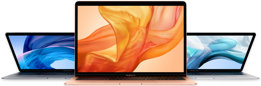 MacBook Air trois couleurs