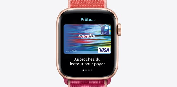 Apple Pay sur une Apple Watch series 5 GPS + Cellular