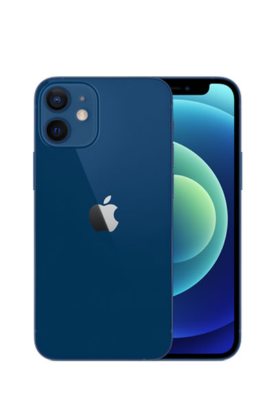 iPhone 12 mini bleu