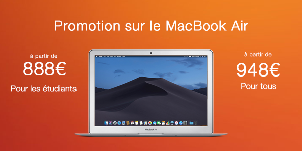 Promotion sur le MacBook Air